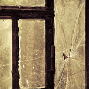 Crimes Prints - Broken window Print by Lars Hallstrom