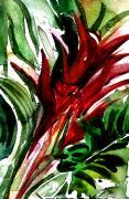 Bromelia Print by Mindy Newman
