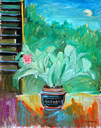 Tropical Plant Paintings - Bromilliad by Ethel Vrana