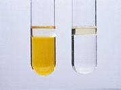 Comparing Photos - Bromine Test For Alkene by Andrew Lambert Photography