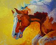 Mustangs Metal Prints - Bronc I Metal Print by Marion Rose