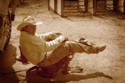 Saddle Photos - Bronc Rider by Gus McCrea