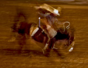 Wild Horse Prints - Bronc Riding 1 Print by Leland Howard