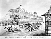 Spectator Framed Prints - Bronx: Horse Race, 1866 Framed Print by Granger