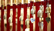 Shrine Photo Originals - Bronze bells in Doi Suthep buddhist temple by Anek Suwannaphoom