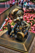 Wdw Prints - Bronze Boy Print by Joetta West