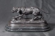 Blood Sculptures - Bronze Casting Blood Hound Dog by Murphy Mcklin