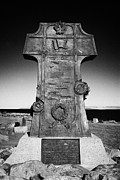 Cruiser Framed Prints - Bronze Cross Varyag Memorial To The Russian Cruiser Varyag Grounded Near Lendalfoot South Ayrshire S Framed Print by Joe Fox