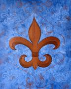 New Orleans Paintings - Bronze Fleur De Lis by Valerie Chiasson-Carpenter