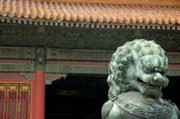 World Cities Posters - Bronze lion protecting the Gate of Supreme Harmony Poster by Sami Sarkis