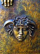 Medusa Metal Prints - Bronze Medusa Metal Print by Olden Mexico