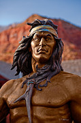 Christopher Holmes Metal Prints - Bronze Native Metal Print by Christopher Holmes