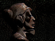 Gloss Digital Art - Bronze statue of a monk by Jan Willem Van Swigchem