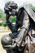 Pondering Prints - Bronze Statue of Hamlet Print by Carl Purcell