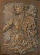 Clay Reliefs - Bronzed Figure by Sharon Dixon