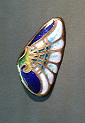 Enamel On Copper Art - Brooch Artdeko by Asya Ostrovsky