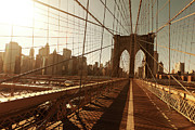 Support Metal Prints - Brooklin Bridge Metal Print by Diogo Salles