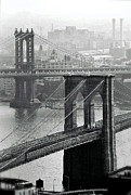 Brooklyn Bridge Posters - Brooklyn and Manhattan Poster by Glennis Siverson