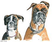 Boxer Pastels Metal Prints - Brooklyn Boxers Metal Print by Marla Saville