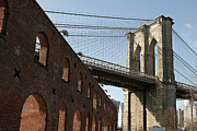 Ferry Photos - Brooklyn Bridge & Empire Fulton Ferry State Park by Just One Film