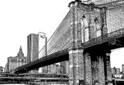 Brooklyn Bridge Posters - Brooklyn Bridge 1.1 Poster by Frank Mari