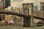 Brooklyn Bridge Prints - Brooklyn Bridge Print by Alexander Mendoza