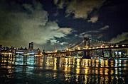 Brooklyn Bridge And Reflections Print by Alex AG