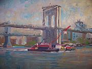 Brooklyn Bridge Painting Originals - Brooklyn Bridge by Bart DeCeglie