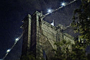 Illuminates Framed Prints - Brooklyn Bridge Cables Framed Print by Alex AG