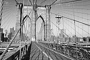 Brooklyn Bridge Deck Print by Andrew Kazmierski