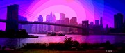 Long Street Digital Art - Brooklyn Bridge by George Pedro