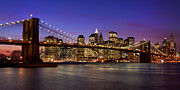 New York Skyline Art - Brooklyn Bridge by Guido Tramontano Guerritore