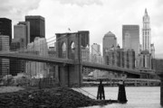 Chuck Kuhn Metal Prints - Brooklyn Bridge I Metal Print by Chuck Kuhn