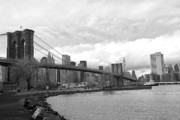 Landscapes Metal Prints - Brooklyn Bridge II Metal Print by Chuck Kuhn
