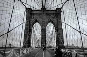 Bridge Pyrography Prints - Brooklyn Bridge III Print by Frank Garciarubio