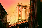 Suspension Paintings - Brooklyn Bridge by James  Mingo