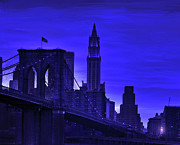 Brooklyn Bridge Digital Art Metal Prints - Brooklyn Bridge Metal Print by Jane Schnetlage