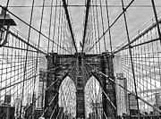 Bauwerk Prints - Brooklyn Bridge Lines Print by Jeff Stein