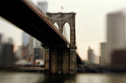 "New York City Skyline Photo Acrylic Prints - Brooklyn Bridge, New York City Acrylic Print by Photography by Steve Kelley aka ""mudpig"""