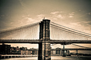 Brooklyn Bridge Posters - Brooklyn Bridge New York Poster by Kelly Wade