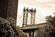 Brooklyn Bridge Posters - Brooklyn Bridge New York Poster by Mickey Clausen