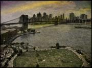 Brooklyn Bridge Park Digital Art - Brooklyn Bridge Park by Chris Lord
