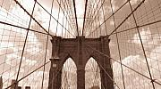Brooklyn Bridge Prints - Brooklyn Bridge Print by Peter Aiello