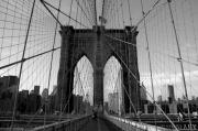 Brooklyn Bridge Prints - Brooklyn Bridge Print by Peter Verdnik