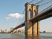 Standing Water Prints - Brooklyn Bridge Print by Phil Haber Photography