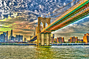Brooklyn Bridge Prints - Brooklyn Bridge Print by Randy Aveille