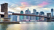 New York City Skyline Photos - Brooklyn Bridge Restoration by Ryan D. Budhu