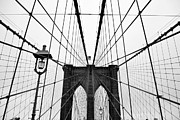 Black And White Photography Metal Prints - Brooklyn Bridge Metal Print by Thank you for choosing my work.