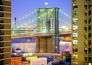 Apartment Framed Prints - Brooklyn Bridge Framed Print by Tony Shi Photography