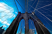 Gotham City Framed Prints - Brooklyn Bridge Vertical Framed Print by Thomas Splietker